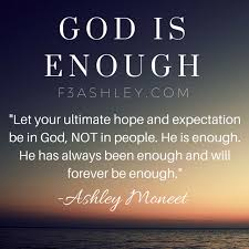 God is ENOUGH ‹ F3 Ashley